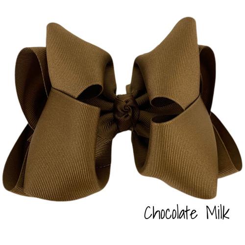 Chocolate Milk Grosgrain Stack