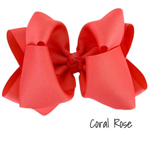 Coral Rose Grosgrain Stack