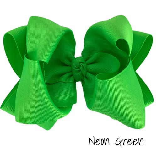 Neon Green Grosgrain Stack