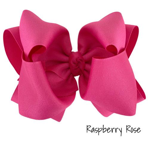 Raspberry Rose Grosgrain Stack