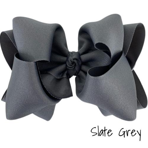 Slate Grey Grosgrain Stack