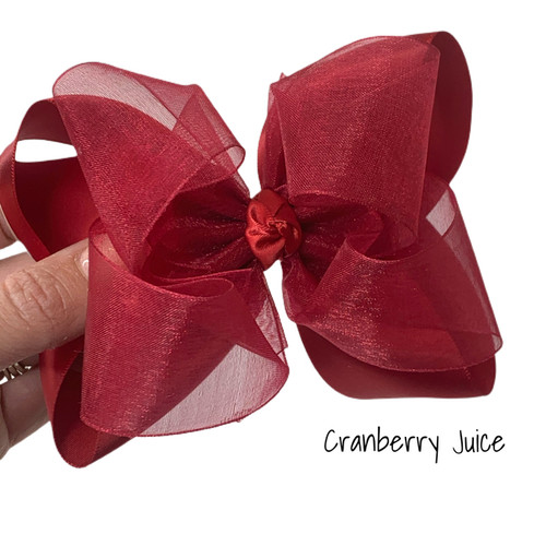 Cranberry Juice Satin Sheer Stack