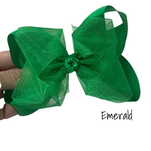 Emerald Satin Sheer Stack