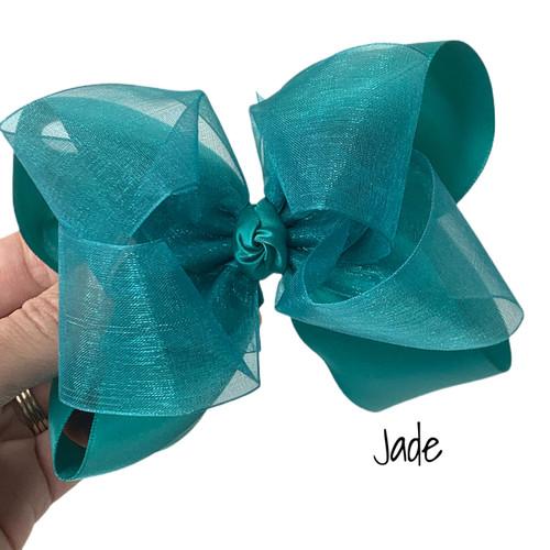 Jade Satin Sheer Stack