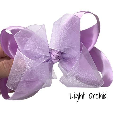Light Orchid Satin Sheer Stack