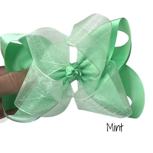 Mint Satin Sheer Stack