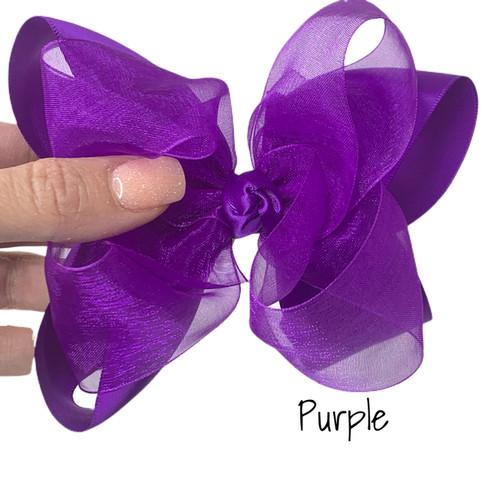 Purple Satin Sheer Stack