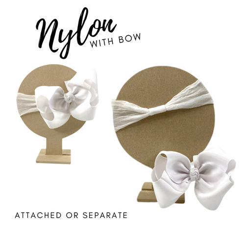 Nylon Headband w Bow