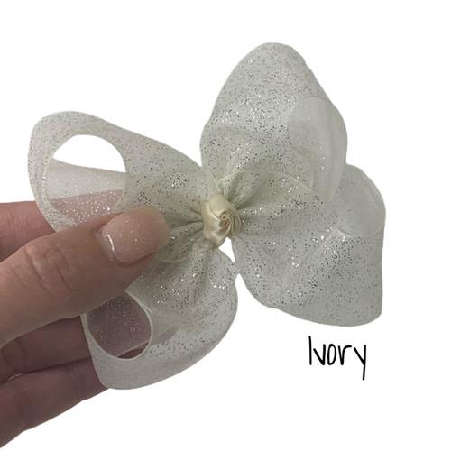 Ivory Glitter Sheer