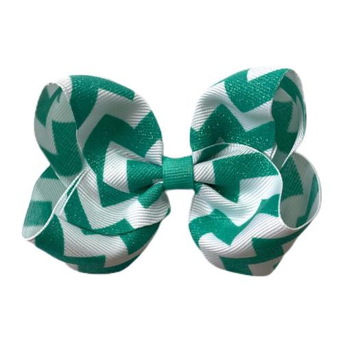 Mermaid Green Glitter Chevron