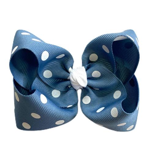 Antique Blue Polka Dot