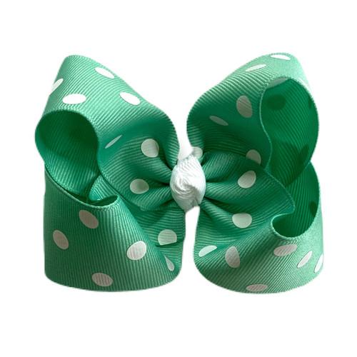 Mermaid Green Polka Dot