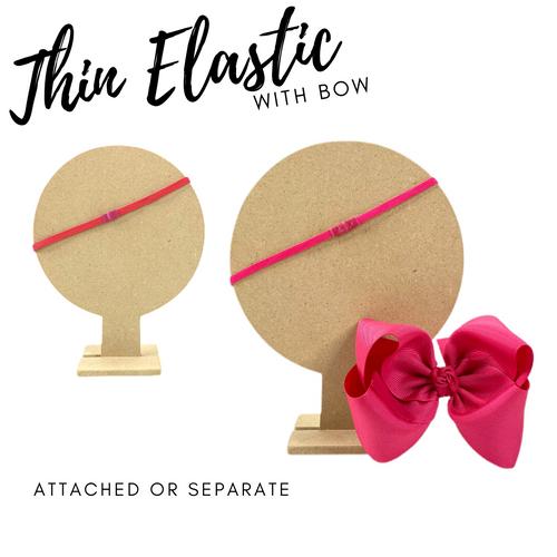 Thin Elastic w Bow