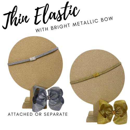 Thin Elastic w Bow Metallic