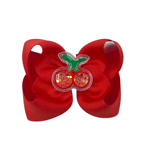 Cherry Squishy  Bow