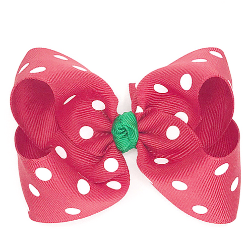 Red Polka Dot with Emerald Knot