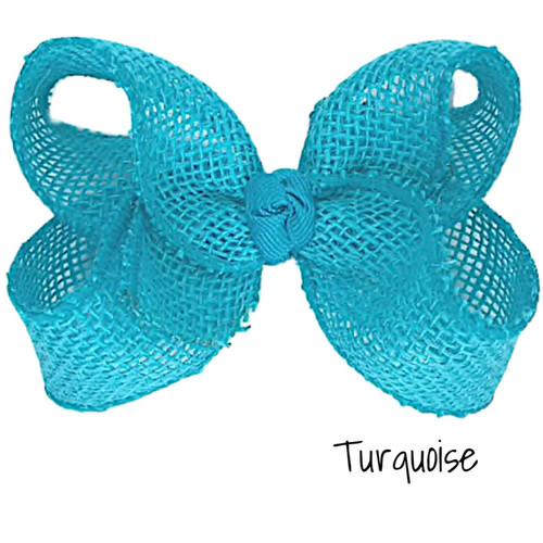 Turquoise Burlap