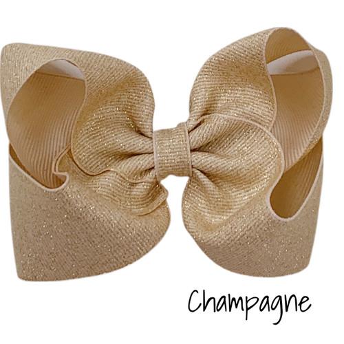 Champagne Glitter Grosgrain