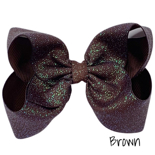 Brown Glitter Grosgrain