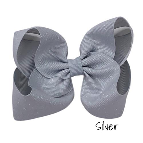 Silver Glitter Grosgrain