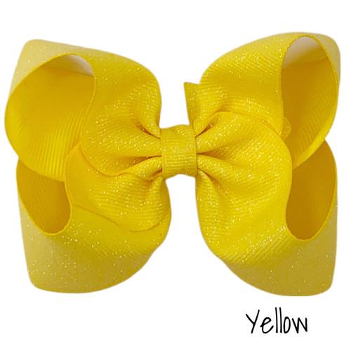 Yellow Glitter Grosgrain
