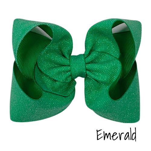 Emerald Glitter Grosgrain