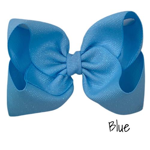 Blue Glitter Grosgrain