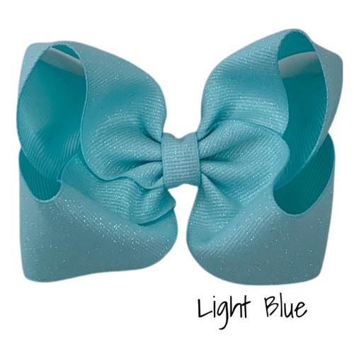 Light Blue Glitter Grosgrain