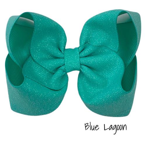 Blue Lagoon Glitter Grosgrain