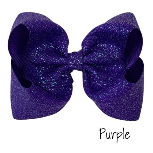 Purple Glitter Grosgrain