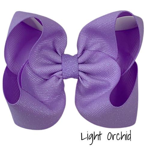 Light Orchid Glitter Grosgrain