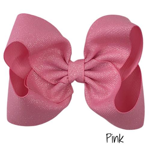 Pink Glitter Grosgrain