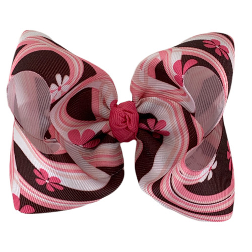 Brown and Pink Flower Waves