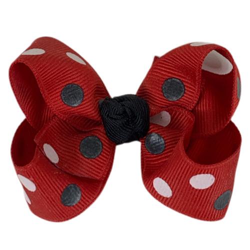 Red and Black Polka Dot