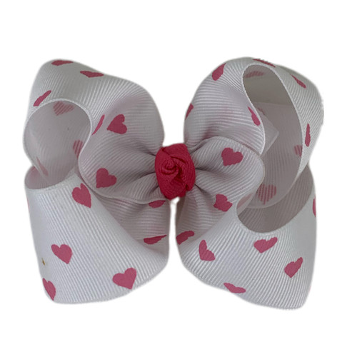 White Hot Pink Hearts