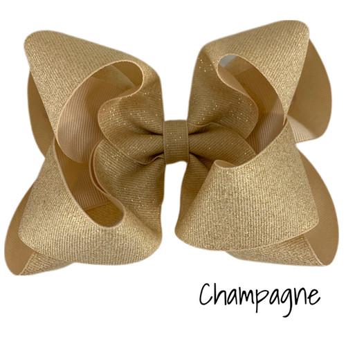 Champange Glitter Grosgrain Stack