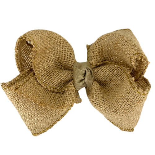 Metallic Tan Burlap