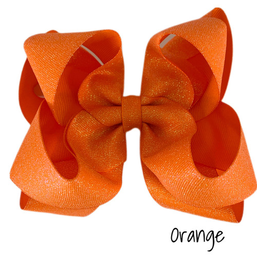 Orange Glitter Grosgrain Stack