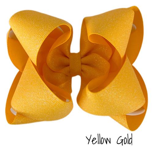 Yellow Gold Glitter Grosgrain Stack