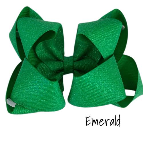 Emerald Glitter Grosgrain Stack