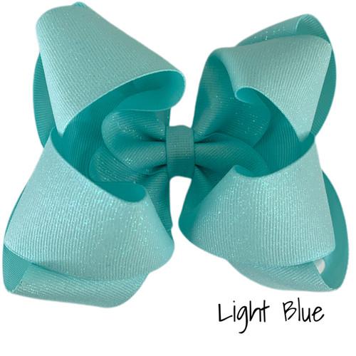 Light Blue Glitter Grosgrain Stack