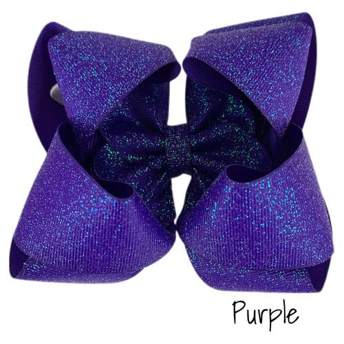 Purple Glitter Grosgrain Stack