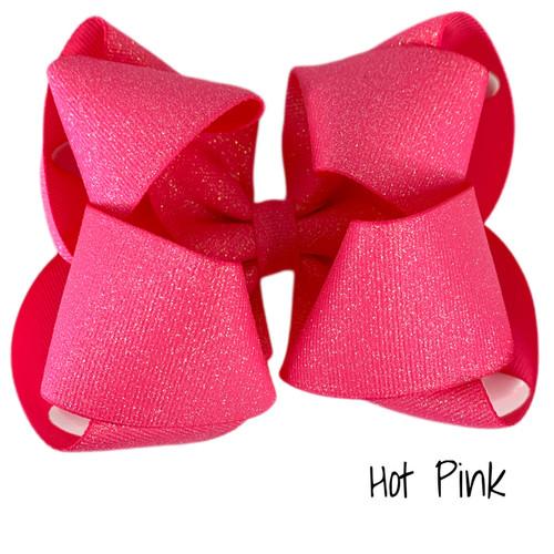 Hot Pink Glitter Grosgrain Stack