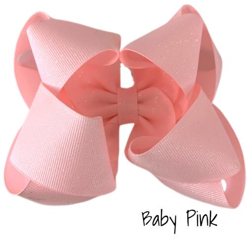 Baby Pink Glitter Grosgrain Stack