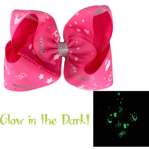 Hot Pink Glow Bow