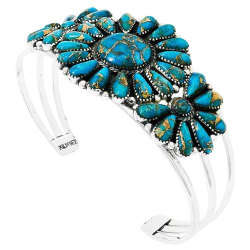 Matrix Turquoise Bracelet Sterling Silver