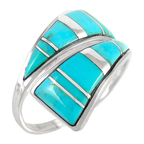 Turquoise Ring Sterling Silver Size 9