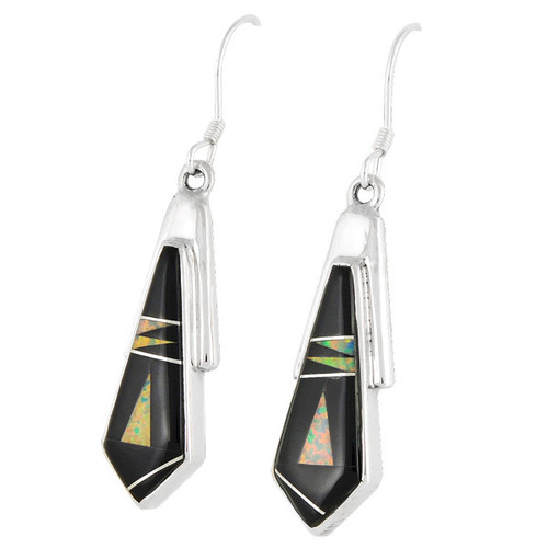 Sterling Silver Earrings Black Shell