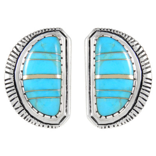 Sterling Silver Stud Earrings Turquoise