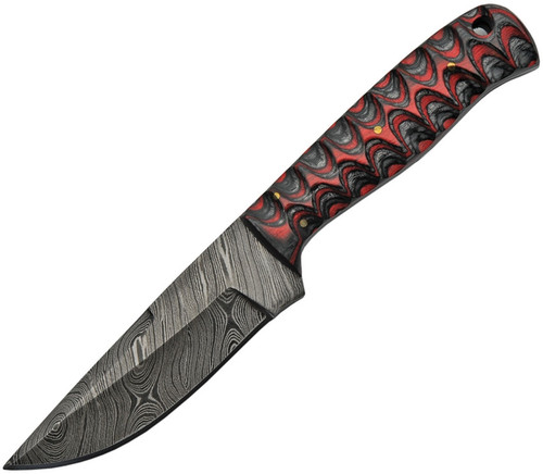 Black and Red Resin Fixed Blade
